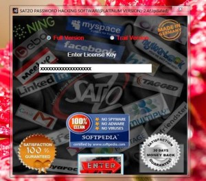 Satzo Password Hacking Software with License Key Free Download