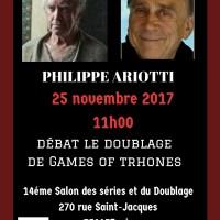 Philippe Ariotti est notre cinquième  invité du débat Games of Thrones