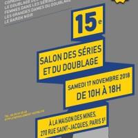 Programme 15e Salon des séries et du doublage, 17 novembre 2018