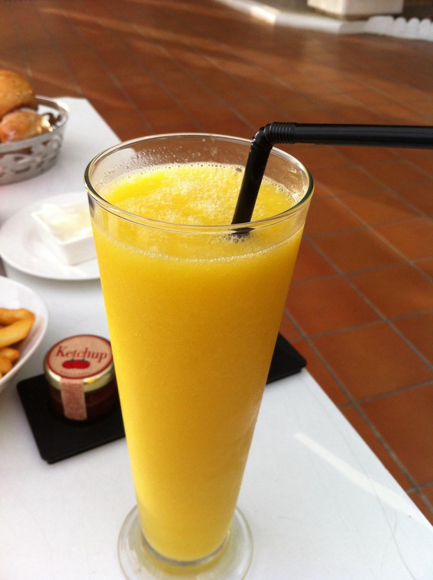 Jus de mange naturel du Sofitel Abidjan Hôtel Ivoire