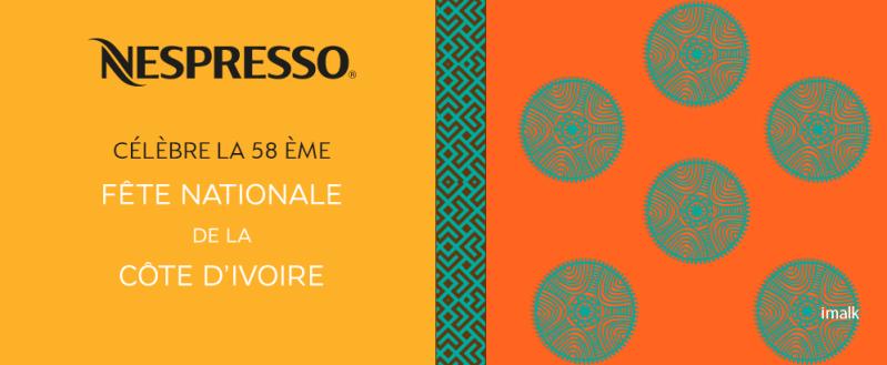 Duo Nespresso - Imalk pour la 58ème fête nationale de la Côte d'Ivoire, nespresso cote d'ivoire, indépendance cote d'ivoire, serialfoodie