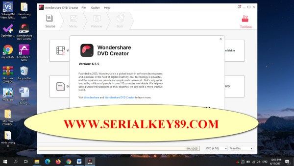 Wondershare DVD Creator 6.5.5.195