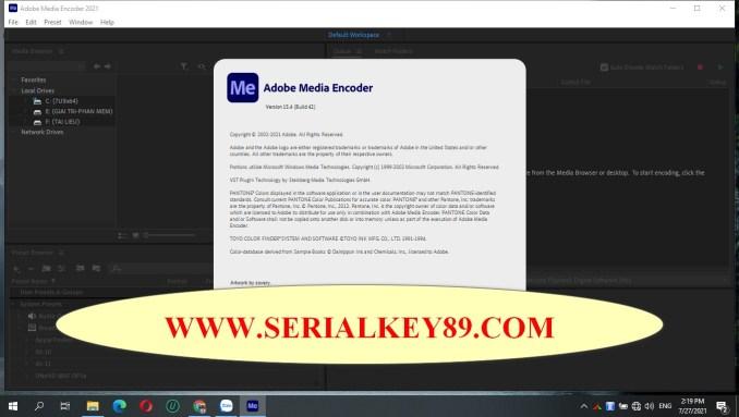 Adobe Media Encoder 2021 v15.4.0.42
