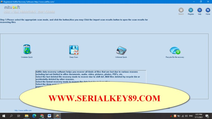 Aidfile Recovery Software 3.7.4.9