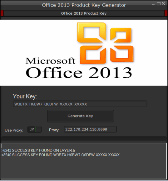 MS Office 2013 product key