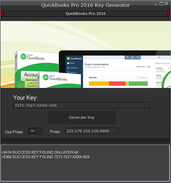 Quickbooks Validation Code Generator 2016