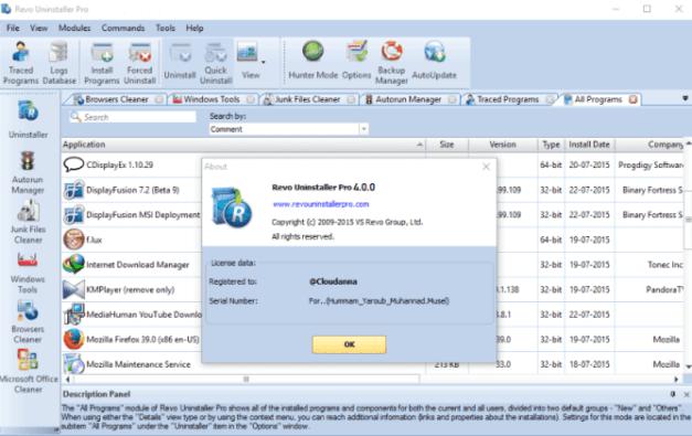 Revo Uninstaller Pro Crack 4.3.3 + Keygen [Full + Latest]