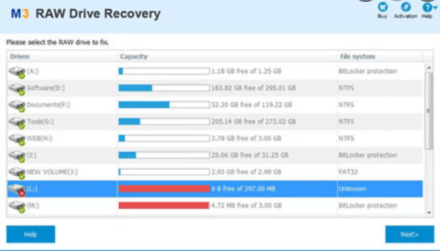 M3 Raw Drive Recovery Activation Key & Crack {Latest}