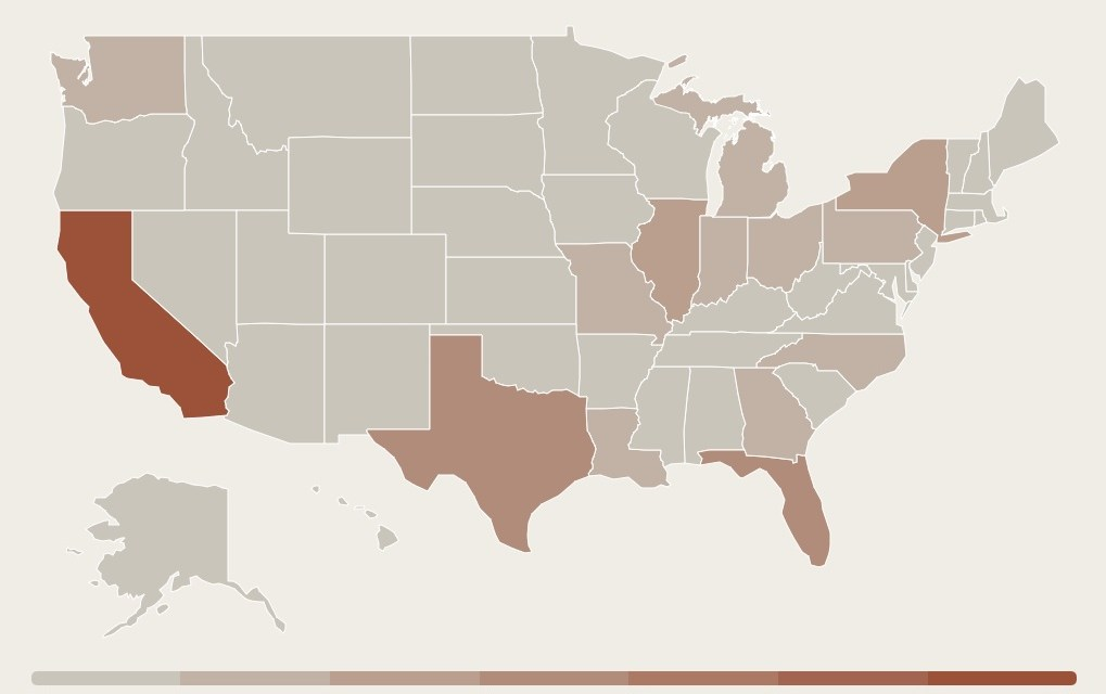 Number of Serial Killing Victims By State
