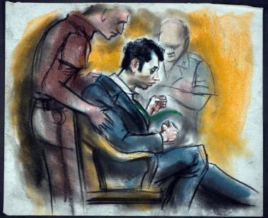 Joseph Kallinger struggling with courtroom officials
