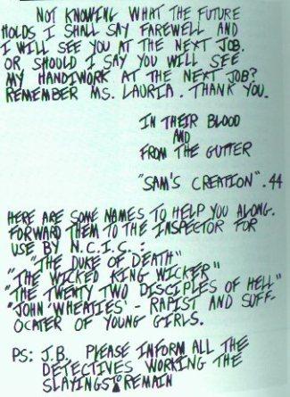 Son of Sam letter to Breslin