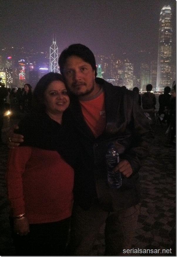 deepak raj giri in london with wife (2)