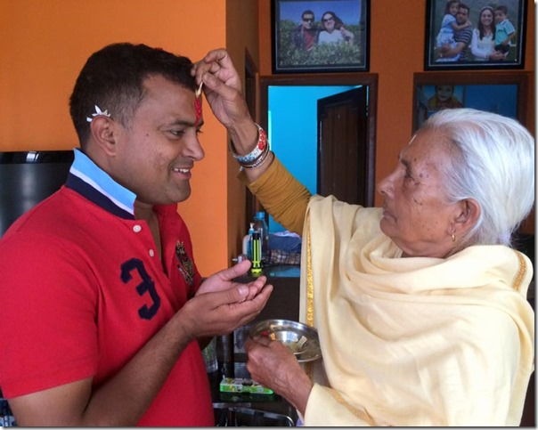 jitu nepal birthday blessing from grandmom