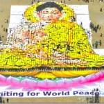 Huge Buddha image made at Tundikhel for World Peace