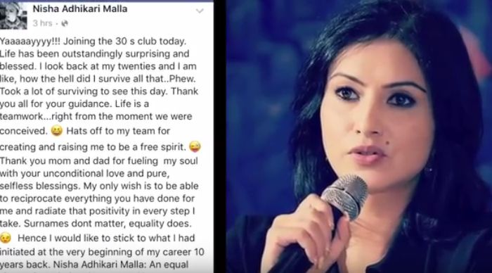 Why Nisha Adhikari added Malla in her name on her 30th Birthday