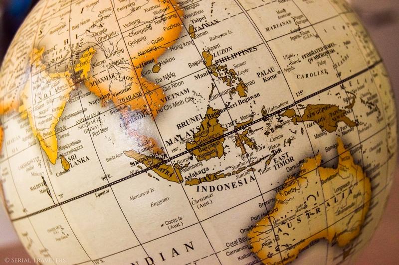 Itinéraire de notre tour d'Asie et d'Océanie