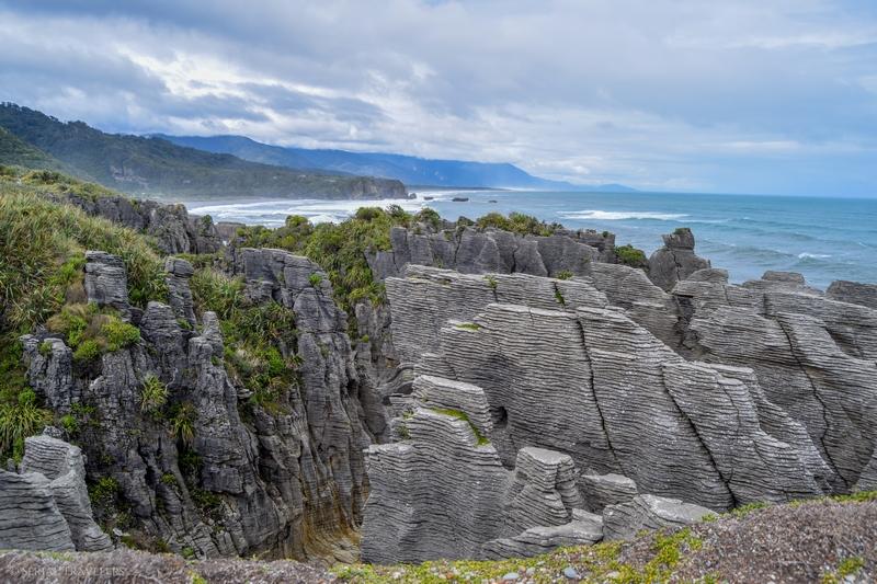 L'étonnant mille feuilles des Punakaiki Pancake Rocks !