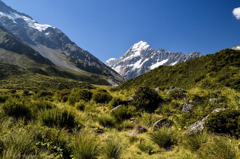 Focus sur un géant : randonnée Hooker Valley Track jusqu'aux pieds d'Aoraki / Mont Cook