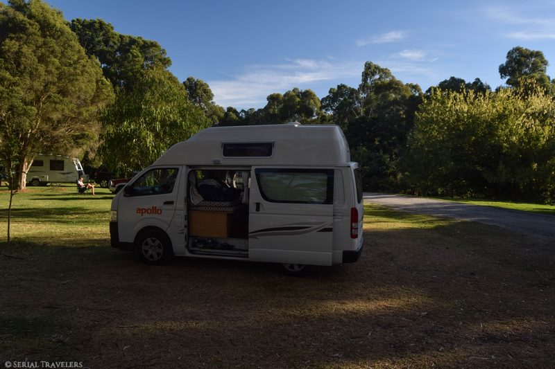 serial-travelers-australie-roadtrip-van-ou-dormir-franklin-river-reserve-rest-area