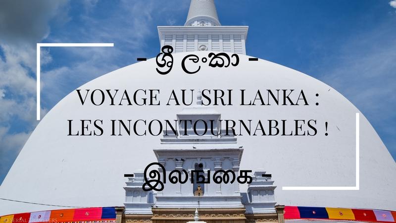 Voyage au Sri Lanka : les incontournables