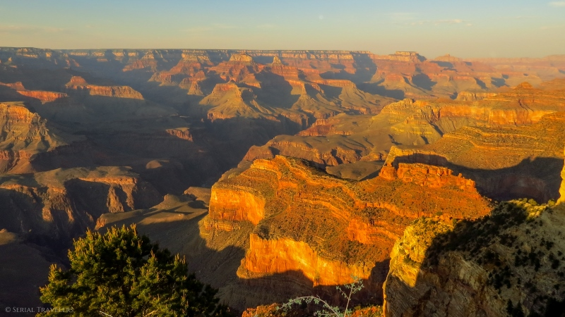 serial-travelers-ouest-americain-arrivée-grand-canyon-sunset-hopi-point2