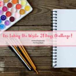 write, 31 days, challenge,