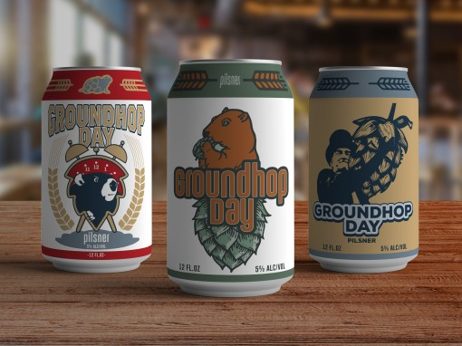 Groundhops Day Beer Can Design