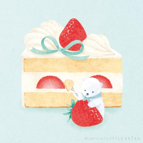 しろくまショートケーキ
