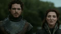 Robb Stark y Catelyn Tully