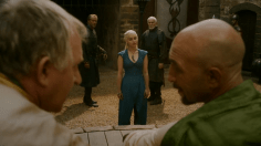 Jorah Mormont, Daenerys Targaryen y Barristan Selmy