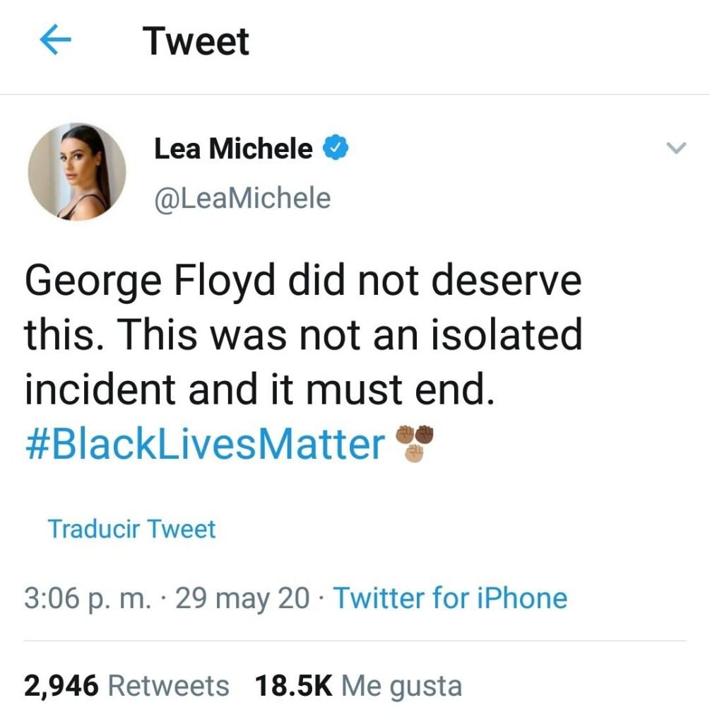 cancelando Lea Michele