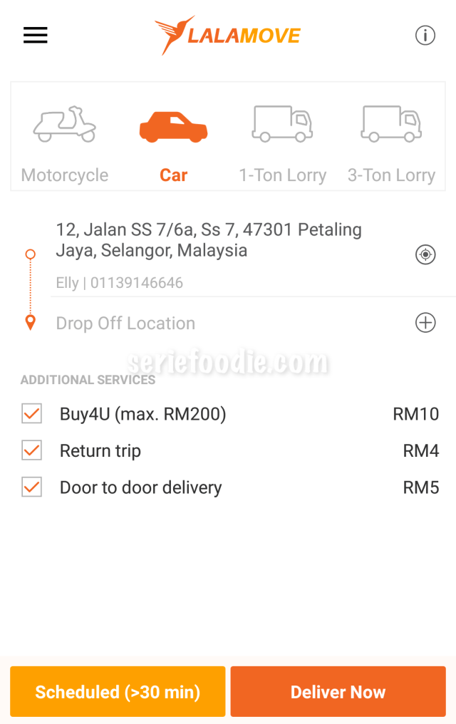 Car Delivery Fees