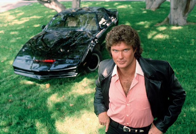 David Hasselhoff em Super Máquina dos anos 80.