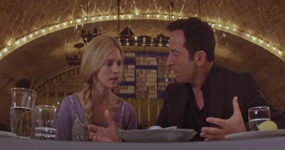 Em cena: os atores Brit Marling como Prairie Johnson e Jason Isaacs como Hunter Hap, na terceira parte do episódio. New Colossus