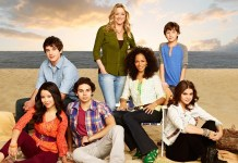 "THE FOSTERS - ABC Family's ""The Fosters"" stars Cierra Ramirez as Mariana, David Lambert as Brandon, Jake T. Austin as Jesus, Teri Polo as Stef, Sherri Saum as Lena, Hayden Byerly as Jude and Maia Mitchell as Callie. (ABC FAMILY/Andrew Eccles)"