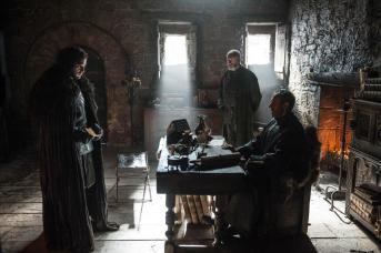 Jon Nieve, Stannis Baratheon y Davos Seaworth.