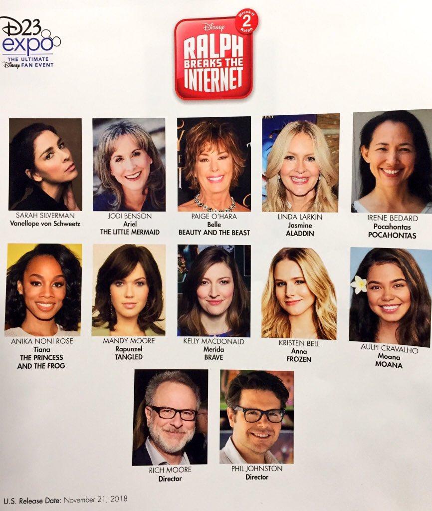 D23 Expo | Detona Ralph 2 terá vários personagens dos universos da Disney