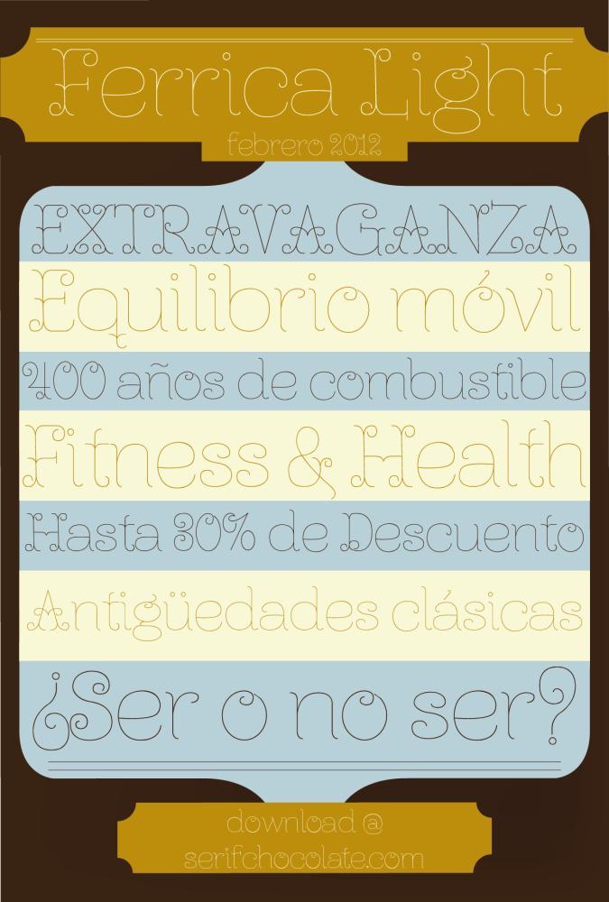 Ferrica Light, tipografía gratis (1/5)