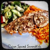 Cajun Spiced Swordfish