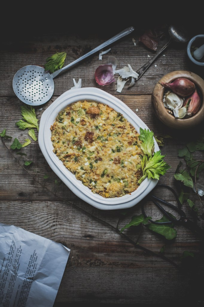 Jalapeno Cornbread and Buttermilk Biscuit Stuffing from Local Milk // Weekend Finds, Serious Crust by Annie Fassler