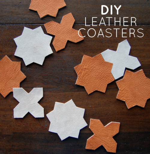 DIY Leather Coasters // Weekend Finds, Serious Crust by Annie Fassler