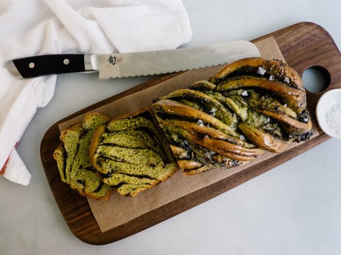 Matcha Black Sesame Babka Recipe from Fix Feast Flair | Serious Crust by Annie Fassler