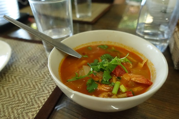 Tom Yum Koong (Hot & Sour Prawn Soup) | Serious Crust by Annie Fassler