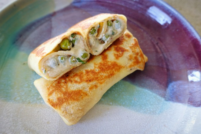 Spring Pea Blintzes | Serious Crust by Annie Fassler