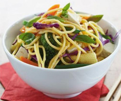 Hokkien noodle and vegetable salad