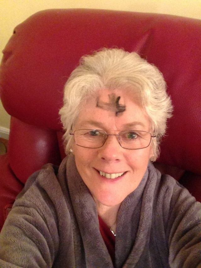 Me with ash on my forehead