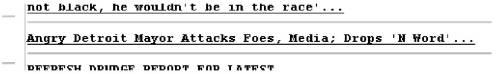 Source: Drudge Report, Mar 12, 2008