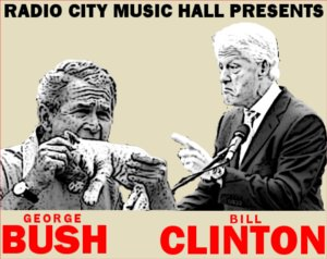 Clinton may be more proficient, but you never know what Bush will do in the ring!