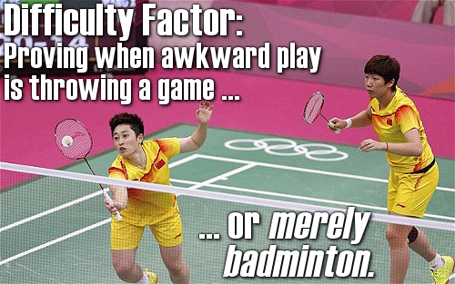 Very bad badminton, indeed