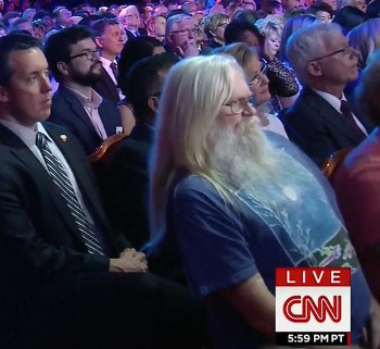 The man is a political junkie, as we saw at the Democratic debate.